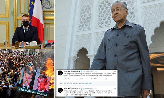Para el exprimer ministro malayo, los musulmanes tienen derecho a matar a millones de franceses.
