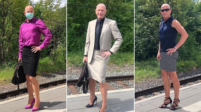 """Mark usa faldas y tacos altos a diario: """"La ropa no debería tener género""""."""