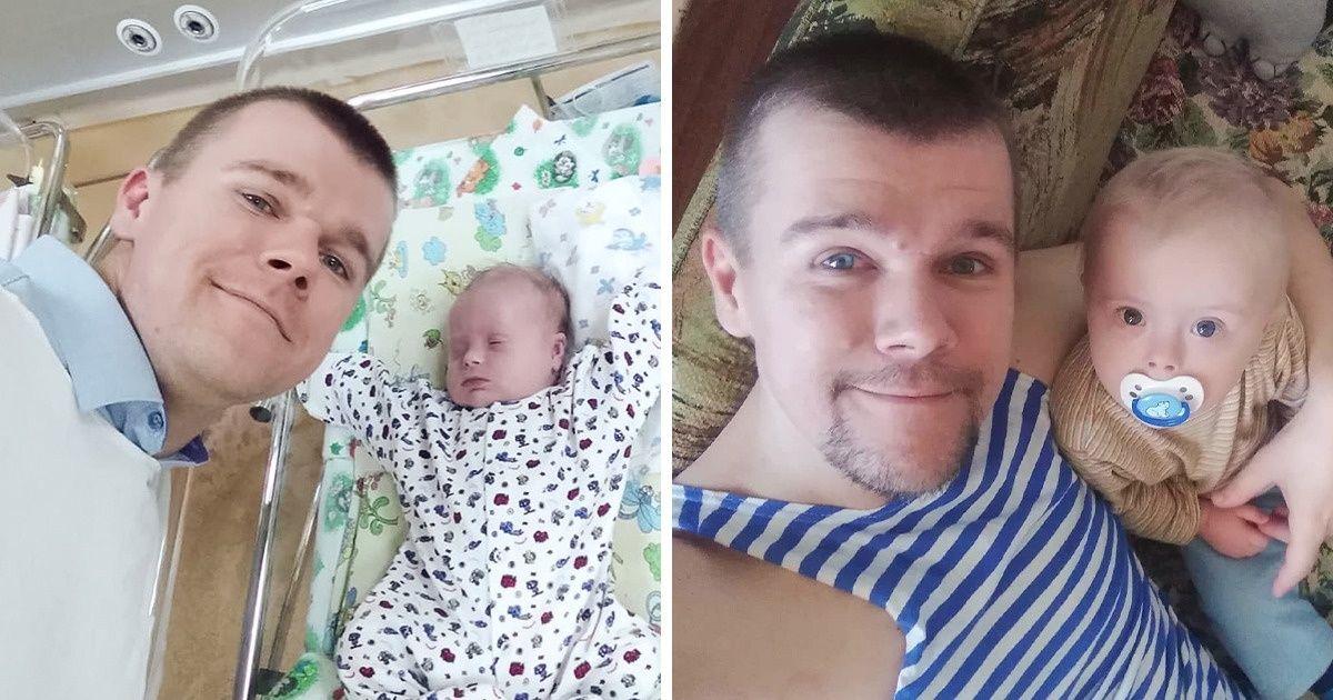 Este papá soltero, cría solo a su hijo con Síndrome de Down. La madre no lo quiso.