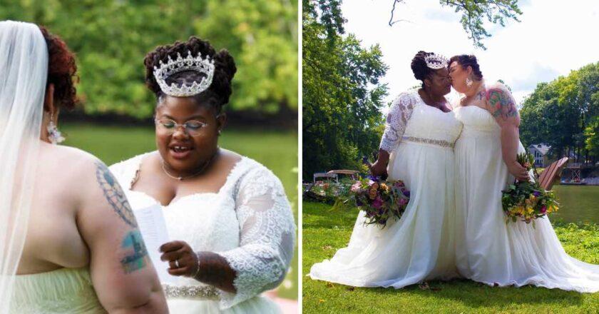 Pareja de lesbianas se casan en soledad. Sus padres no quisieron ir a su boda.