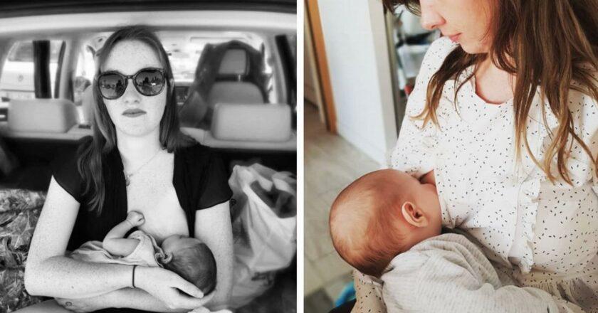 10 madres que defienden la lactancia materna en público.