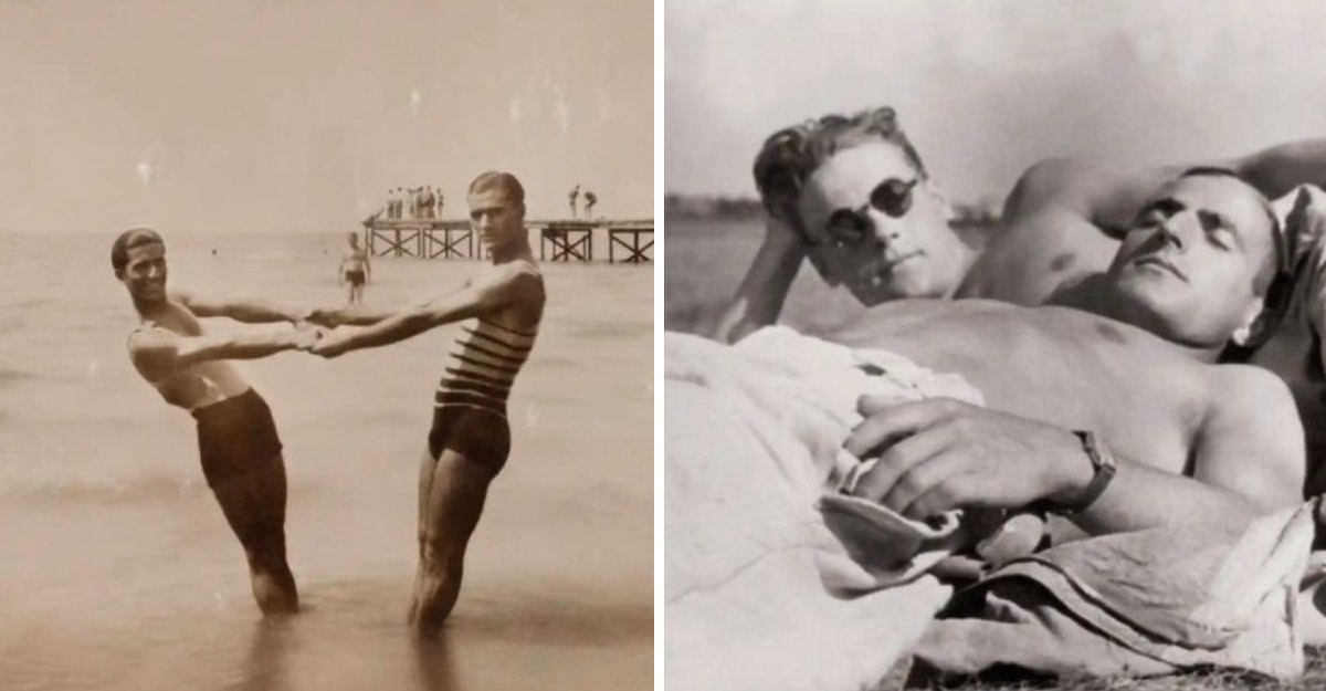 15 fotos secretas de hombres enamorados. Las selfies de nuestros antepasados.