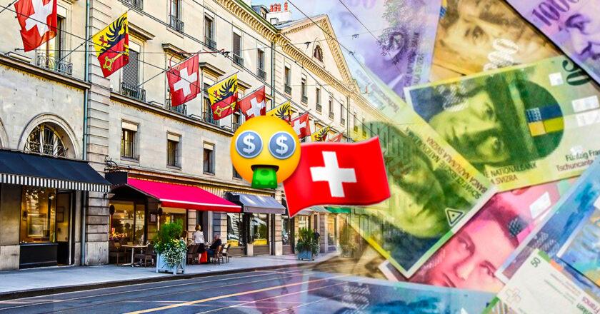 Suiza: el salario mínimo más alto del mundo. Alrededor de 4.450 dólares.