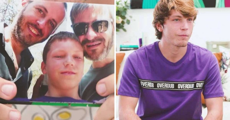 """""""Soy Gabriel y tengo dos padres"""". Este joven adoptado habla con orgullo de sus padres gays."""