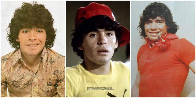 20 fotografías raras de un Diego Maradona muy joven de finales de la década de 1970 y principios de 1980.
