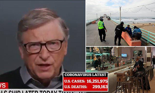 Bill Gates cree que la pandemia continuará durante el 2022 y que los restaurantes permanecerán cerrados durante los próximos seis meses.