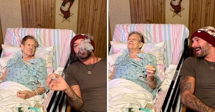 Su abuela se muere y pide un último deseo: fumar un porro con su nieto.