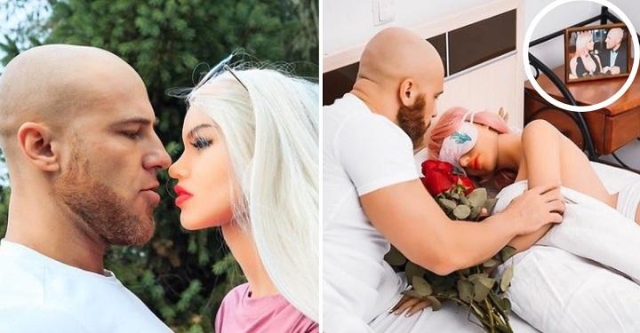 Se casó con una muñeca de plástico y retrata su vida de pareja en una serie de fotos.