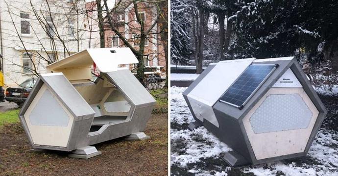 Alemania: instalan cápsulas térmicas para personas en situación de calle. Evitarán que pasen frío.