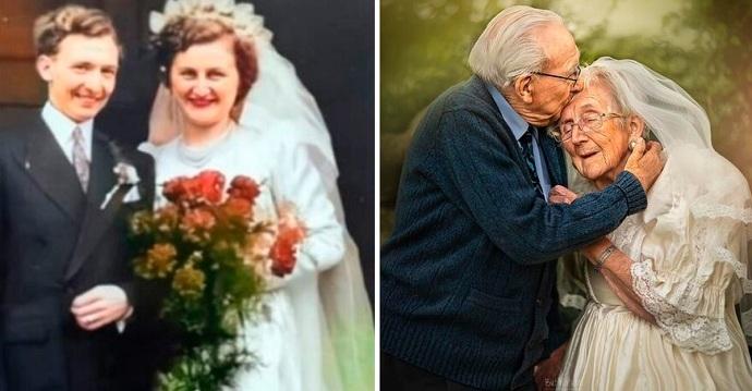 Celebran sus 70 años de casados con una sesión de fotos. El amor puede ser para siempre.