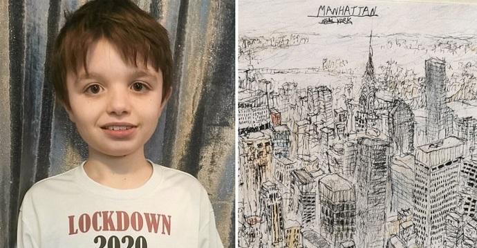 Un niño autista puede dibujar paisajes exactos después de haberlos visto sólo una vez.