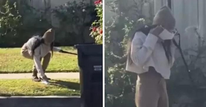 Mia Khalifa recoge caca de perro con su mascarilla y luego se la pone otra vez. ¡Increíble!