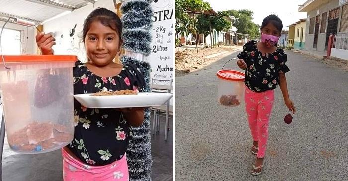 Tiene 9 años y vende cocadas para costear su propio regalo de Navidad. ¡Un ejemplo!