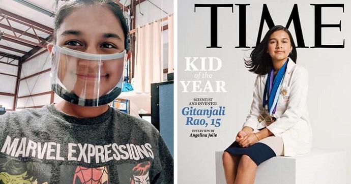 """Gitanjali Rao, tiene 15 años, es científica y fue elegida """"Niño del Año"""" por la revista Time."""