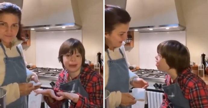 Mamá corrige a su hijo con síndrome de Down porque bailó con un niño