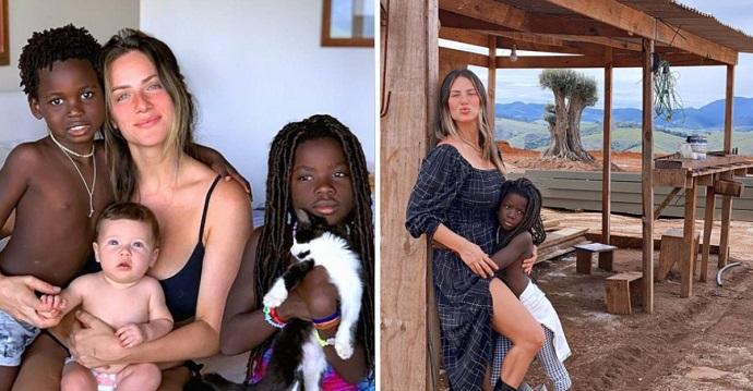 """La atacaron por adoptar niños negros. """"Adoptar no es caridad""""."""