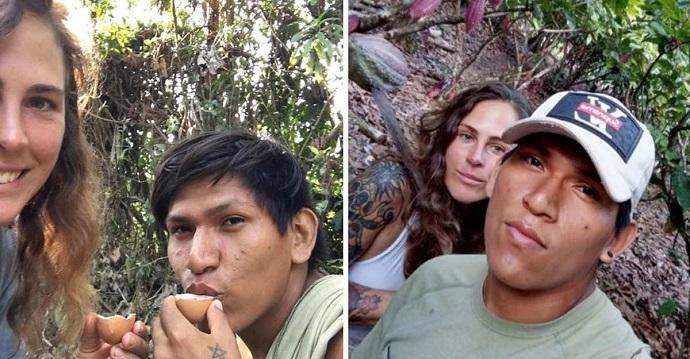 Inglesa se enamora de un joven peruano y se queda a vivir en la selva con él.