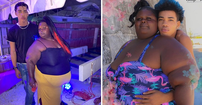 Su novia tiene sobrepeso, pero él la defiende de los ataques.