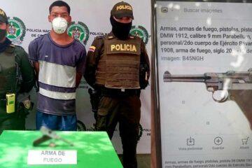 Un delincuente robaba con una pistola nazi de la segunda guerra mundial.