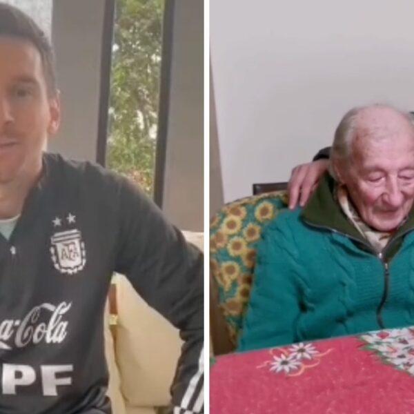 Abuelo se emociona hasta las lágrimas al ver el mensaje que le envío su ídolo Messi